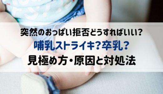 哺乳ストライキの原因と対処法、卒乳との見極め方|体験談まとめ