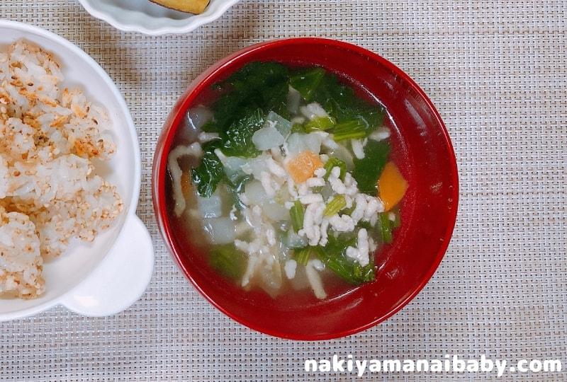 便秘解消!離乳食レシピ:水分たっぷりスープ
