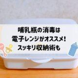 哺乳瓶の消毒は【電子レンジ】が簡単!楽チン!スッキリ収納術も!