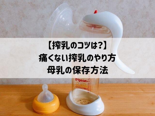 【搾乳のコツは?】痛くない搾乳のやり方&母乳の保存方法