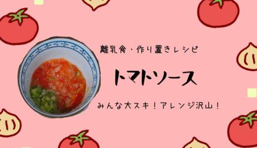 【離乳食作り置きレシピ】みんな大好き!玉ねぎたっぷりトマトソース