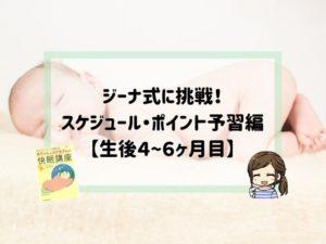 ジーナ式スケジュール予習編4〜6ヶ月目