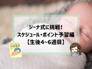 ジーナ式スケジュール予習編4〜6週目