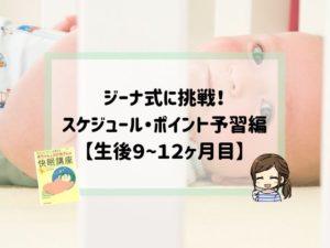ジーナ式スケジュール予習編9〜12ヶ月目