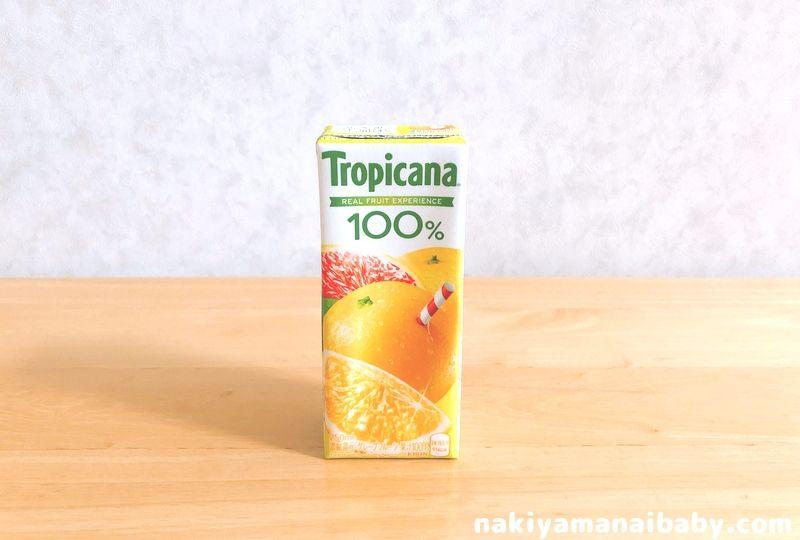 つわり飯、グレープフルーツジュースの写真