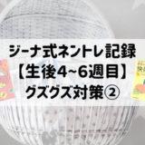 ジーナ式ネントレ記録【生後4〜6週目】効果のあったグズグズ対策②