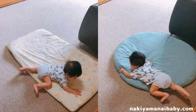 せんべい座布団とお昼寝布団の比較写真